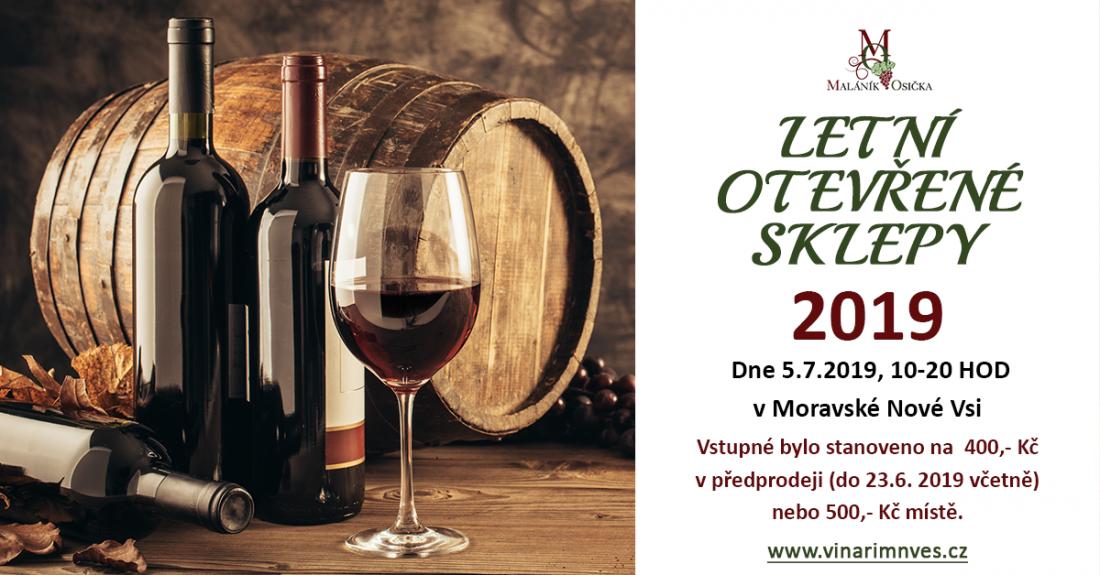 Letní otevřené sklepy 2019. Vinaři z Moravské Nové Vsi