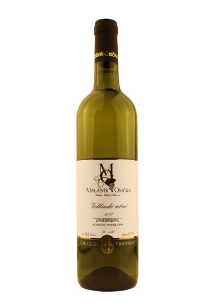 produkt_Veltlínské zelené 2017 Moravské zemské víno, suché